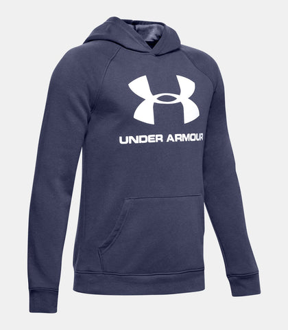 Under Armour Rival Logo Boys' Hoodie|1325328-497YSM|1325328-497YMD|1325328-497YLG|1325328-497YXL