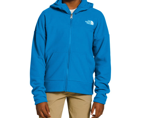 The North Face Glacier Full Zip Hoodie - Girls|NF0A3Y95W8GYS|NF0A3Y95W8GYM|NF0A3Y95W8GYL|NF0A3Y95W8GYXL