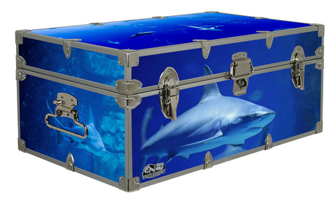 Designer Trunk - Sharks - 32x18x13.5""
