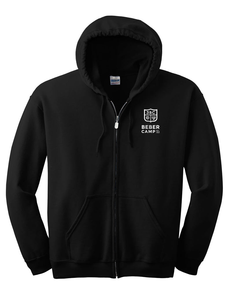 Beber Camp Zip Up Logo Hoodie