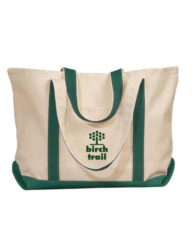 Birch Trail Camp Canvas Tote