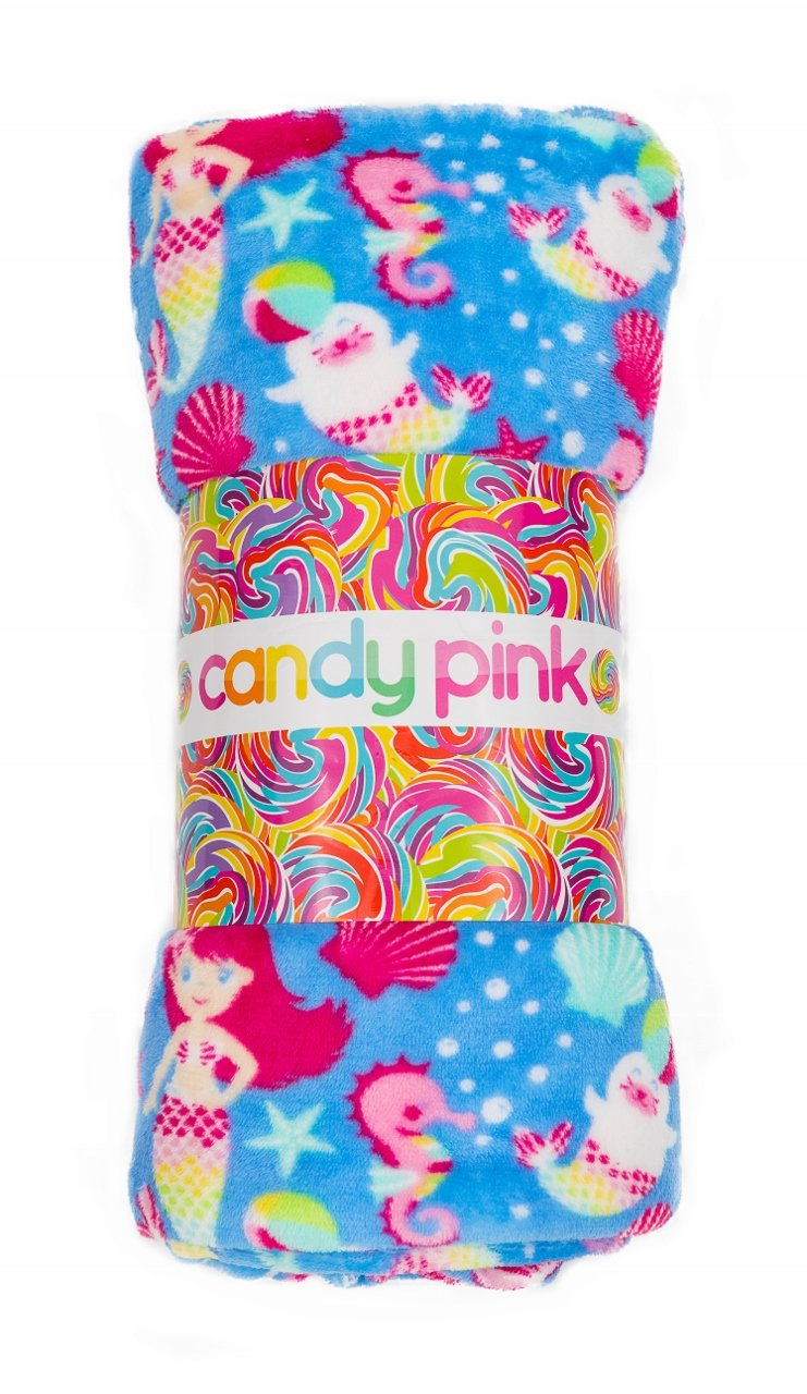 "Candy Pink Super Soft 60"" x 60"" Fleece Throw Blanket"