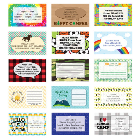 picture about Printable Fill in the Blank Camp Letters named Summertime Camp Stationery Postcards, Clipboards Paper
