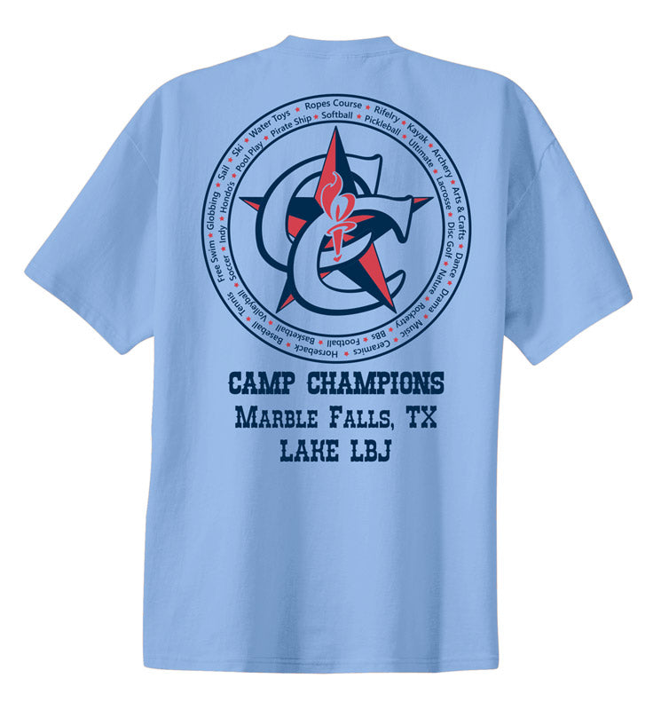 Camp Champions Marble Falls Tee