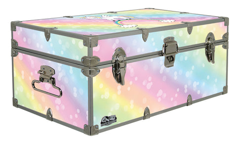 Designer Trunk - Rainbow Unicorn - 32x18x13.5""