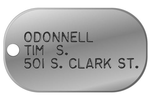 Name Plax - Dog Tag