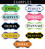 Name Plax - Flourish Frame