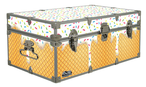 Designer Trunk - Ice Cream Cone - 32x18x13.5""