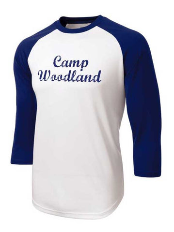 Camp Woodland Baseball Tee