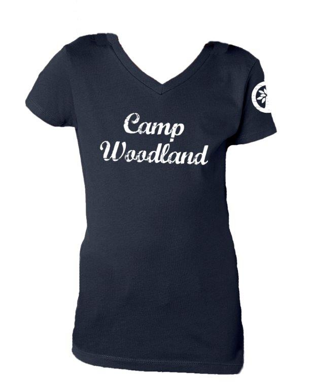 Camp Woodland V-Neck Tee