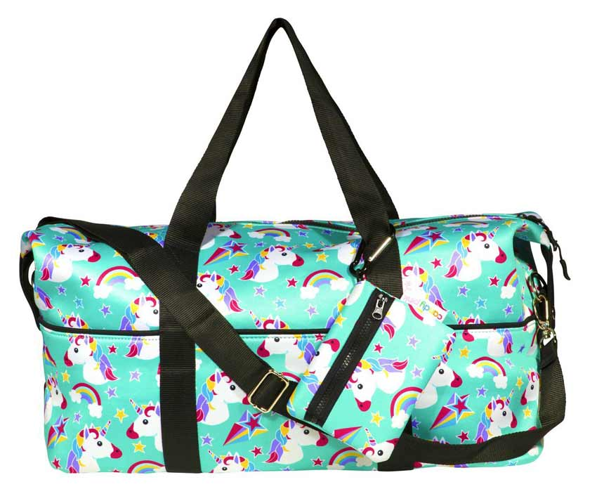 Candy Pink Camp Duffel Bag w/ Detachable Purse