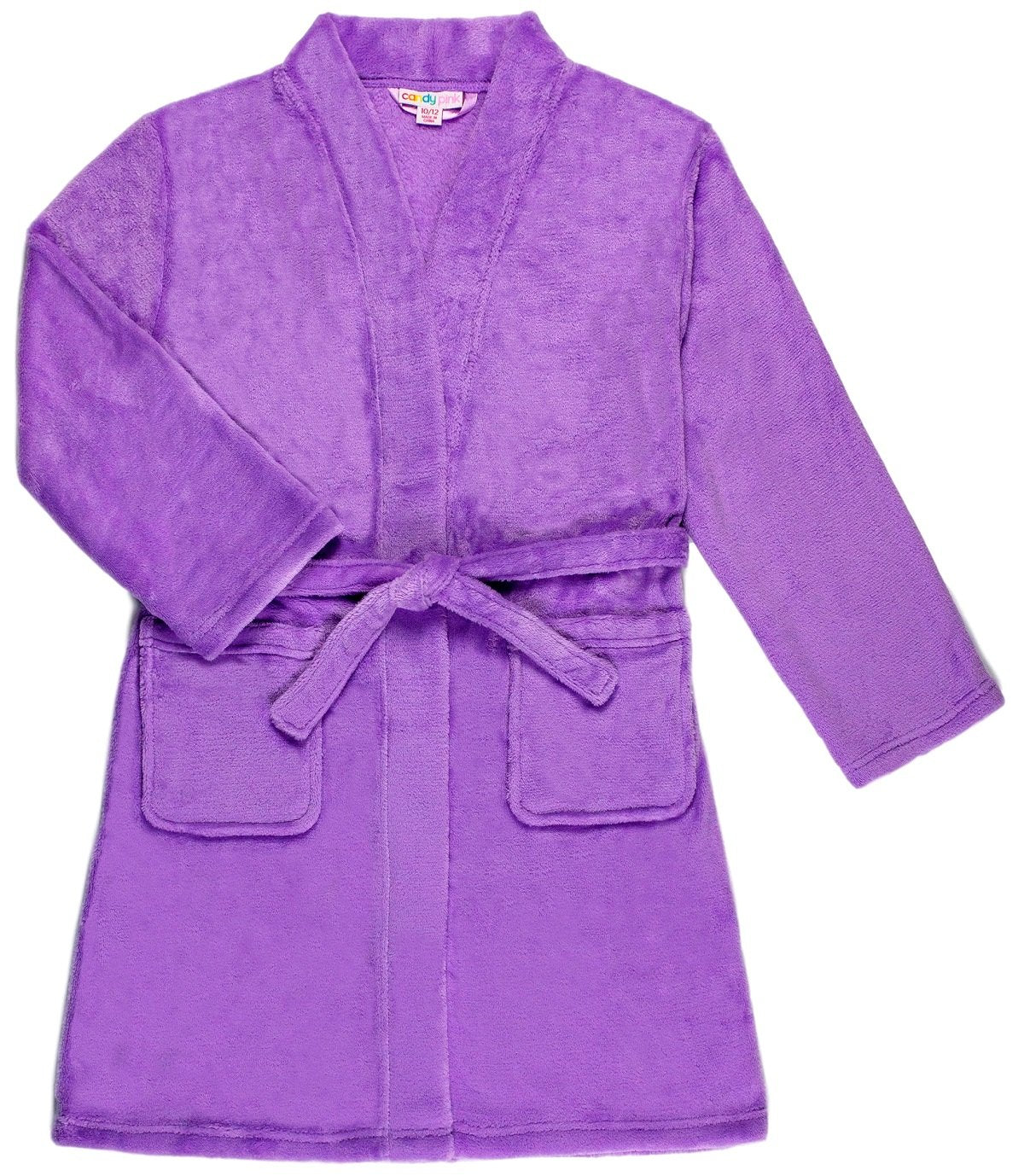 Candy Pink Solid Color Fleece Robe