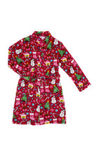 Candy Pink Girls Fleece Emoji XMas Robe