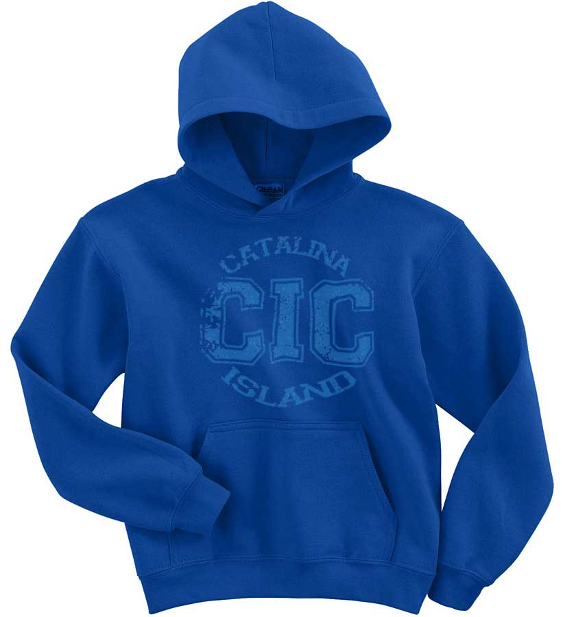Catalina Island Camps Distressed Print Hoodie