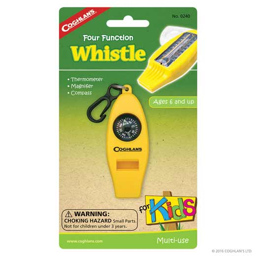 Coghlans® Kids Four Function Whistle
