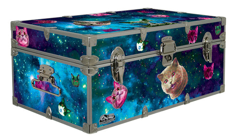 Designer Trunk - Galaxy Kittens - 32x18x13.5"