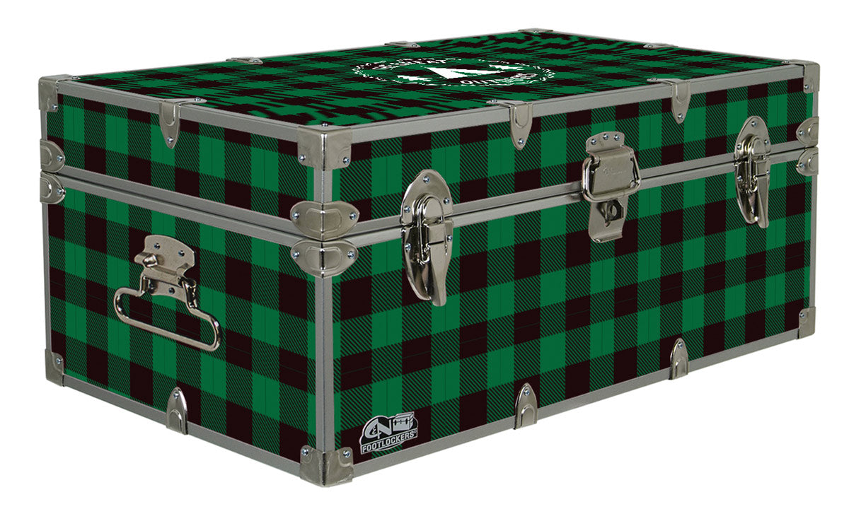 Designer Trunk - The Great Outdoors Green Buffalo Plaid  - 32x18x13.5""