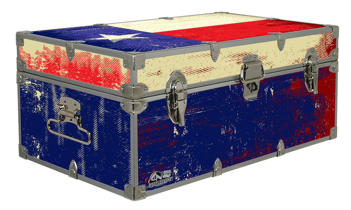 Designer Trunk - Texas Flag - 32x18x13.5""