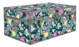 Designer Trunk - Tropical Flowers - 32x18x13.5""
