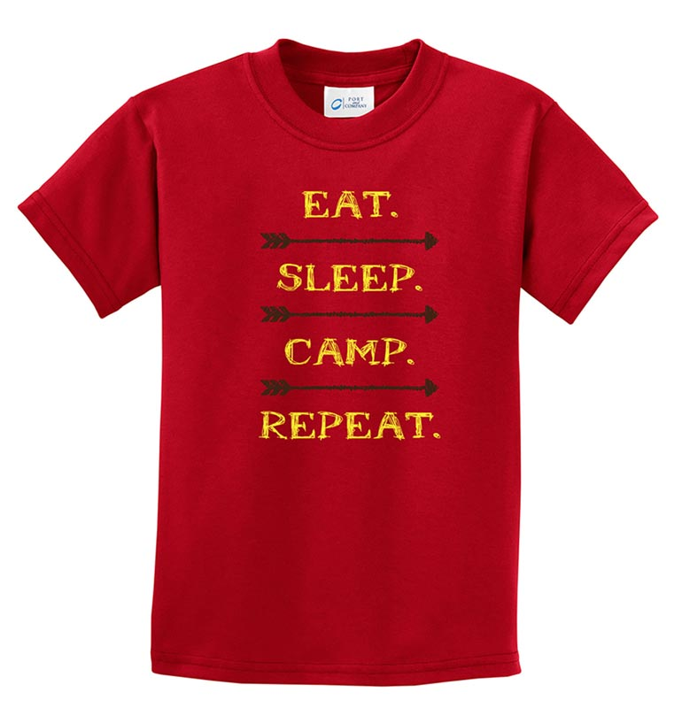 Life of Camp - Eat, Sleep, Camp, Repeat Tee