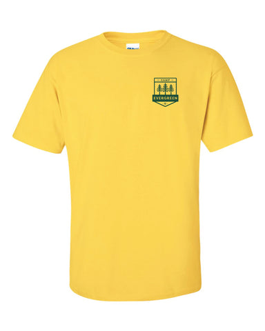 Camp Evergreen Yellow Uniform Tee