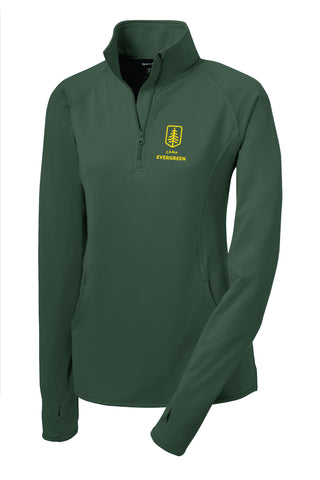 Camp Evergreen Thumb Hole 1/2 Zip Warm Up Jacket