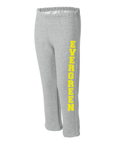 Evergreen Open Bottom Sweatpants