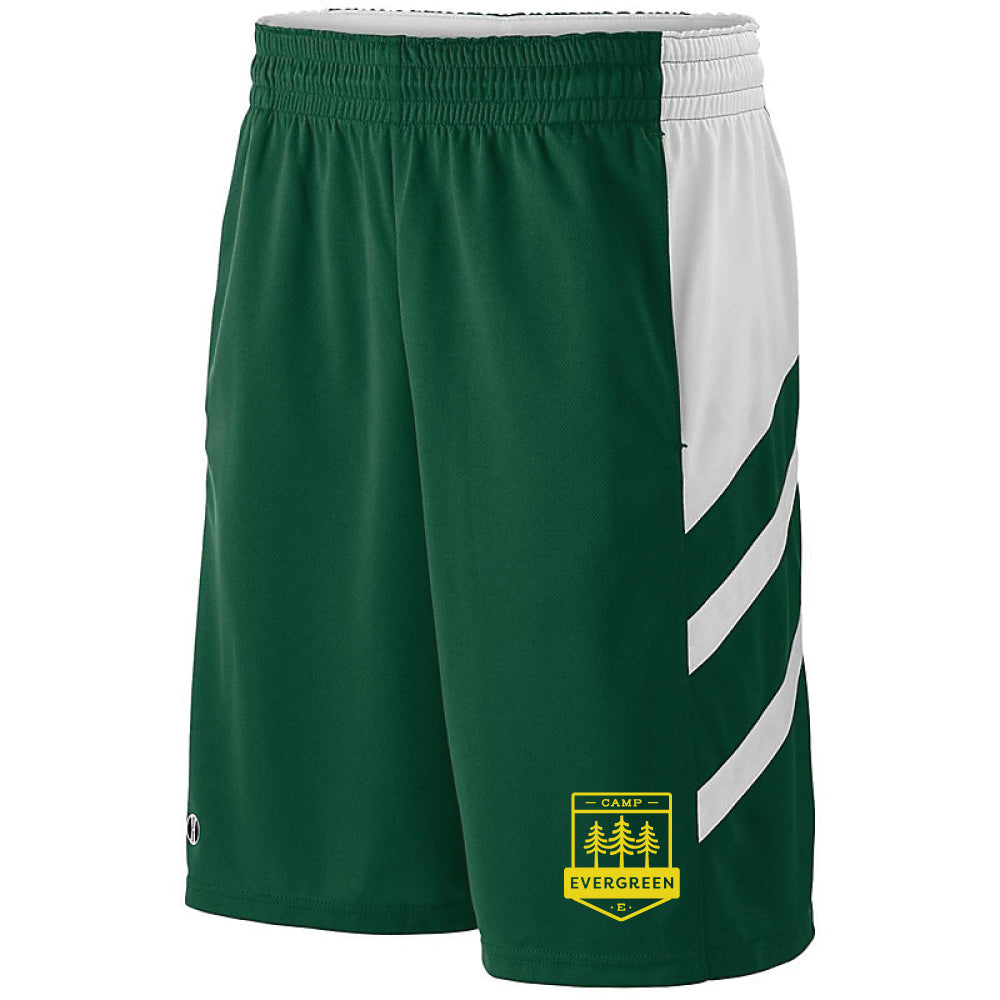 Camp Evergreen Micromesh Athletic Shorts with Pockets
