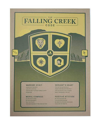 Falling Creek Camp Code Poster