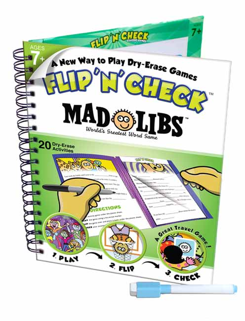 Flip 'N' Check Mad Libs Activity Book