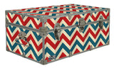 Designer Trunk - Fourth of July Chevrons - 32x18x13.5""