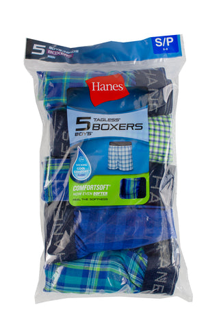 Hanes Boys' Tagless Boxers - 5 Pack