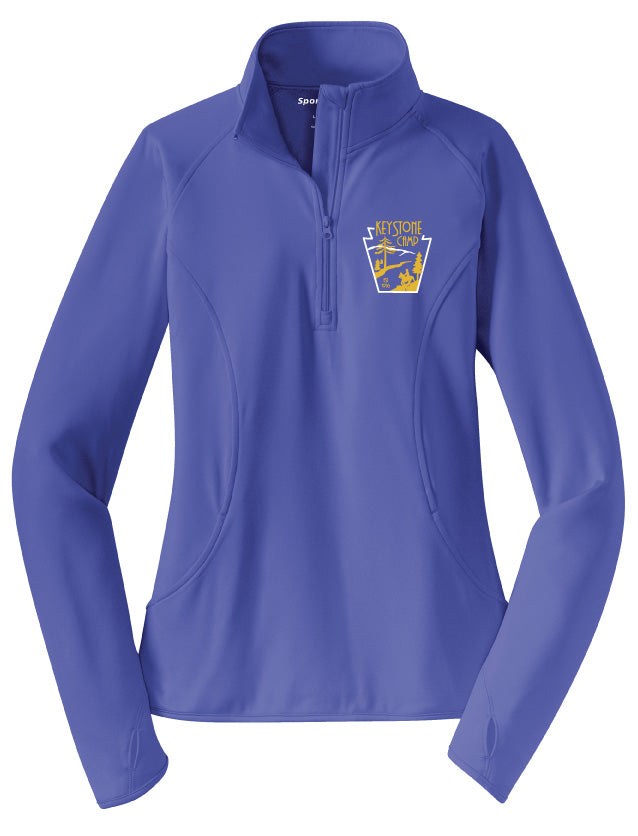 Keystone Camp Thumb Hole 1/2 Zip Warm Up Jacket