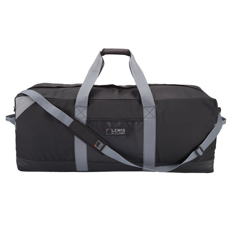 Lewis N Clark Heavy Duty 36 Inch Large Duffel with Neoprene Gear Bag|9036BLK