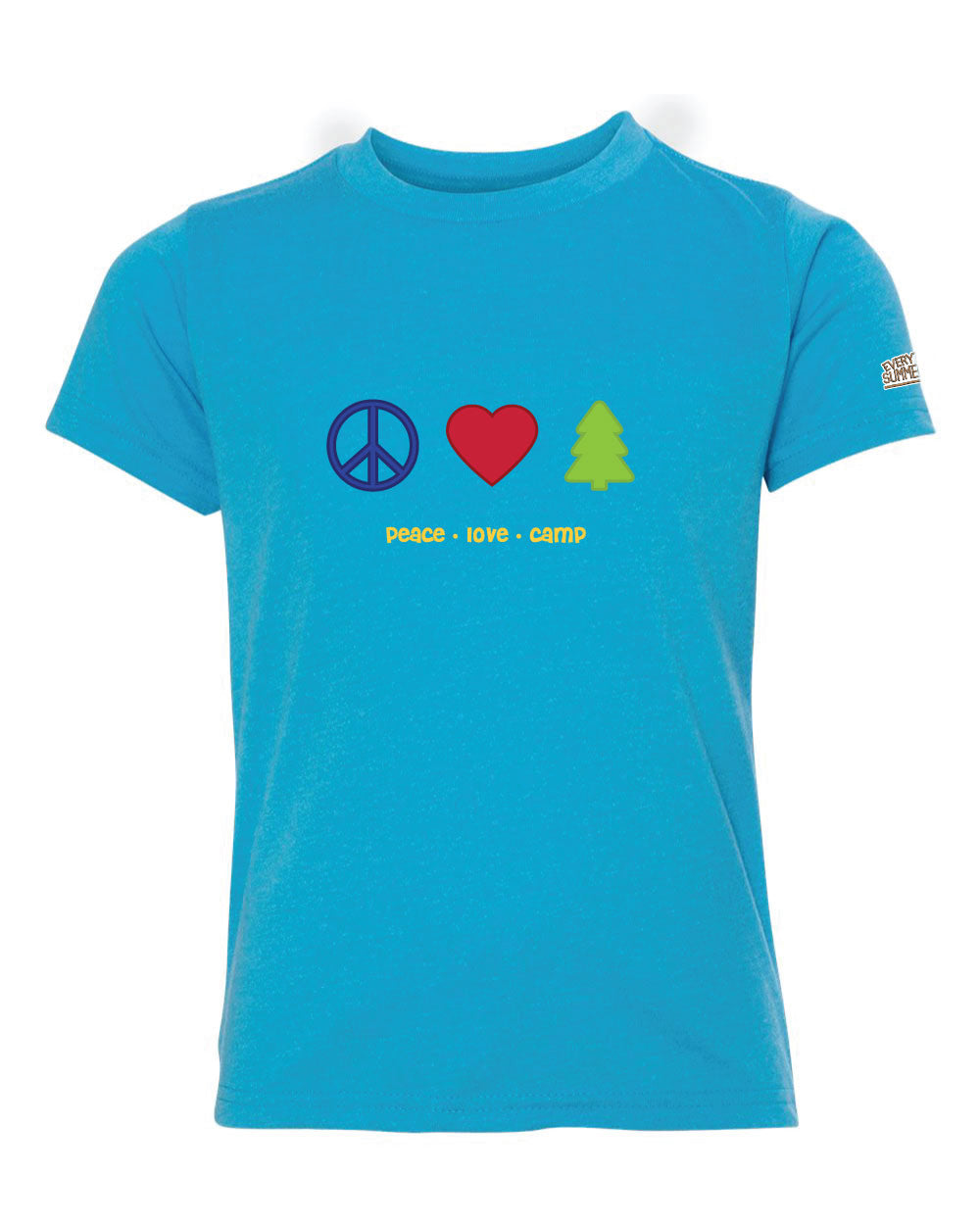 Life of Camp - Peace, Love, Camp - Tri-Blend Tee