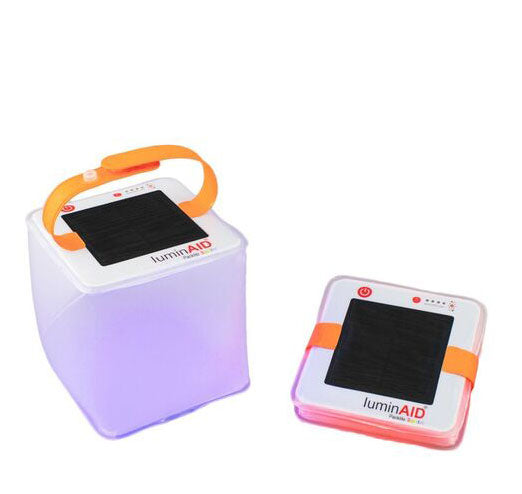 LuminAID PackLite Spectra USB Color Changing Inflatable Solar Lantern