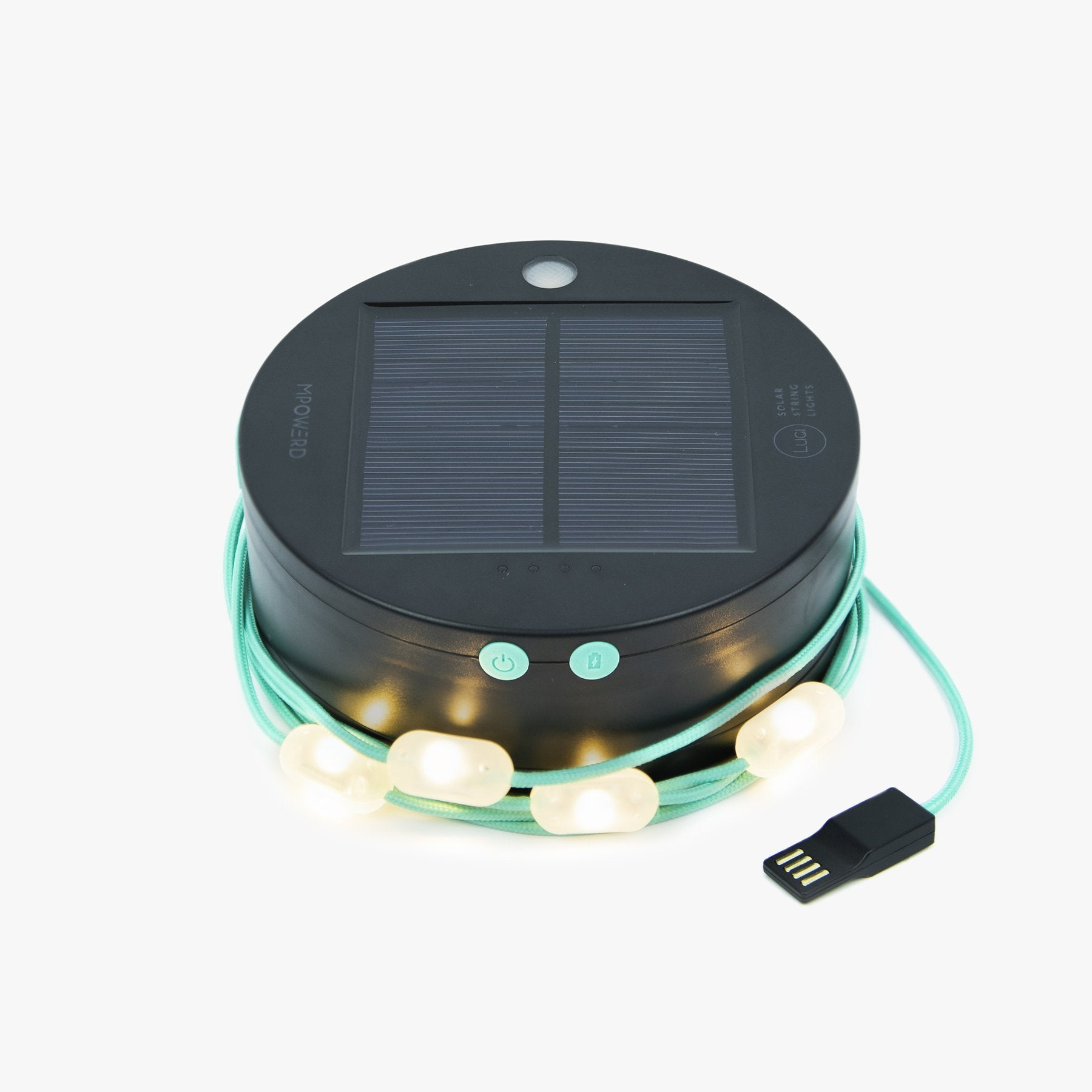 MPOWERD Solar String Lights + Mobile Charger