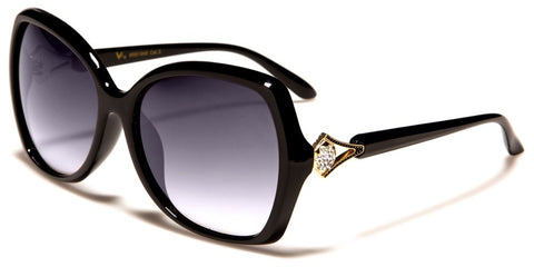 Women's Butterfly Rhinestone Sunglasses|RS1949BL