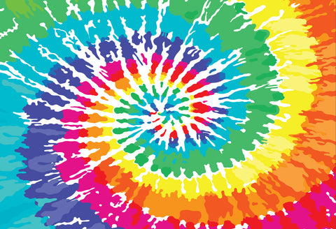 ESC Personalized Camp Floor Mat - Spiral Tie Dye|14052