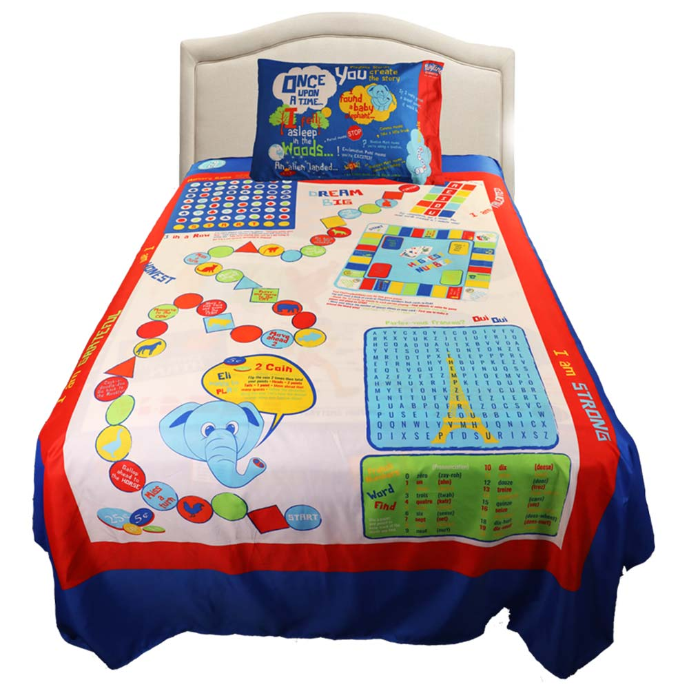 Playtime Twin Sized 3-Piece Bed Sheet Set