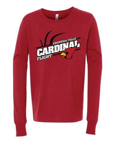 Cardinal Flight Premium Long Sleeve Tee|70621|70622|70623|70624|70625|70626|70627|70628|70629