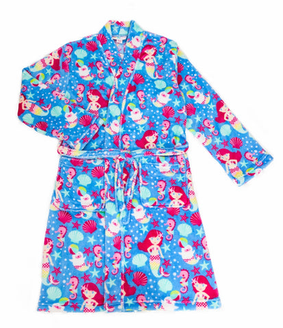 Candy Pink Girls Fleece Bathrobe|S19420-YS|S19420-YM|S19420-YL