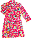 Candy Pink Girls Fleece Bathrobe