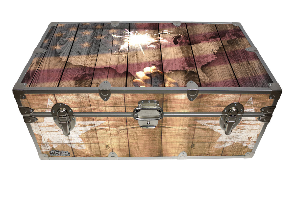 Americana Home Decor Storage Trunk Rustic Americana