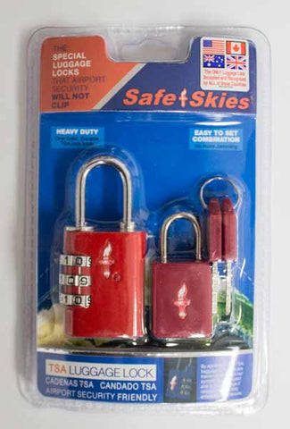 Safe Skies TSA Padlock/Keyed Lock Combo|13532