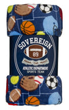 "Sovereign Athletics Super Soft 60"" x 60"" Fleece Blanket"