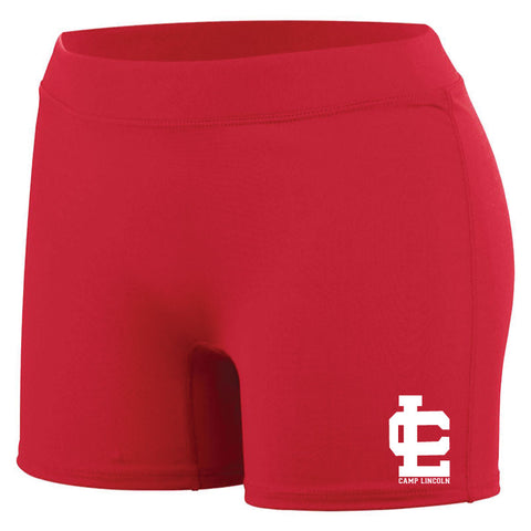 Camp Lincoln Ladies Fit Spandex Shorts