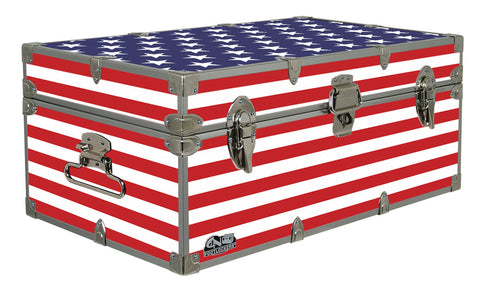 Designer Trunk - Stars & Stripes - 32x18x13.5""