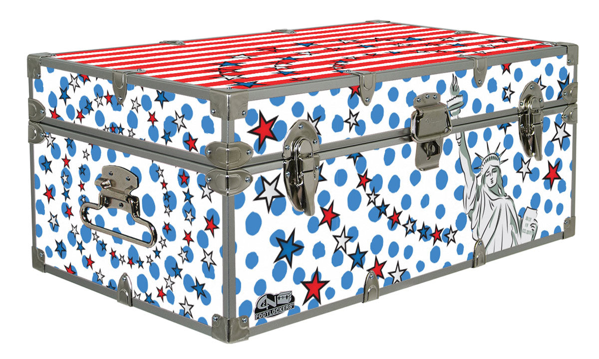 Designer Trunk - Statue of Liberty - 32x18x13.5""