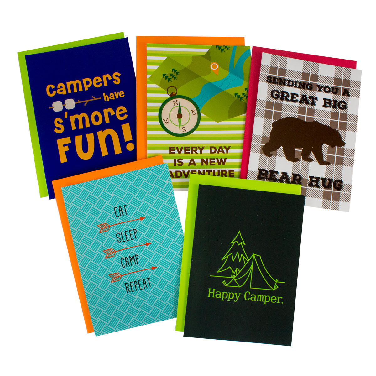 Summer Camp Greeting Card 5 Packs For Boys Girls And Parents